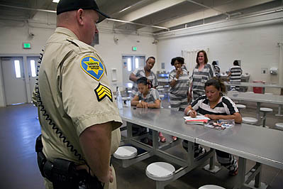 Inmates in Maricopa County Tent Jail